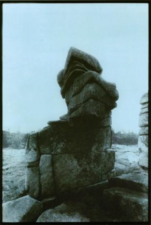 Pavel Nešleha, Z cyklu Krkonoše, kolorovaná fotografie, 39,5 x 26,5 cm, soukromá sbírka, 1983