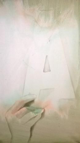 Pavel Příkaský, Trik s A, 70 x 45 cm , 2014