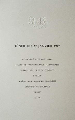 Tomáš Uhnák, Reception for Artists and the Field of Culture, January, 1947, detail
