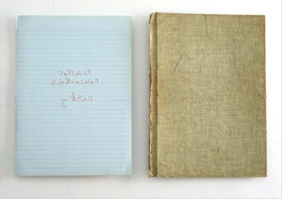 Asunción Molinos Gordo, El Fellah Ando Fes (Rolník má motyku), inkoust na papíře, 2013.