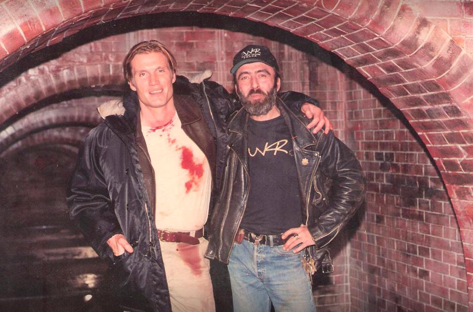 anonym, Dolph Lundgren a Richard Nemčok, klub Bunkr, cca 1994